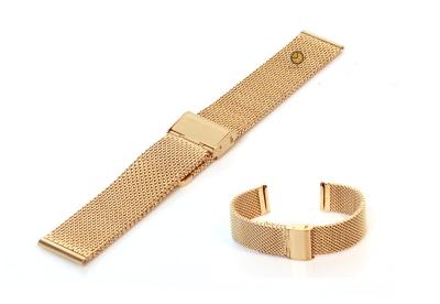 Uhrenarmband 20mm Gold Mailänder Stahl