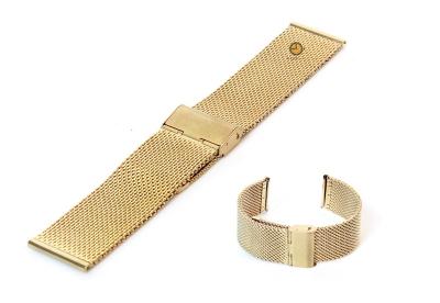 Uhrenarmband 22mm Gold Mailänder Stahl
