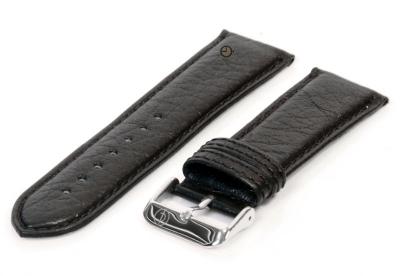 Uhrenarmband 24mm Schwarz Bisonleder