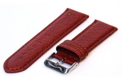Uhrenarmband 24mm Braun Bisonleder