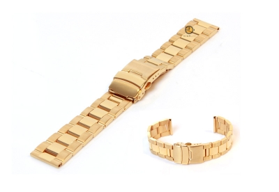 Uhrenarmband 20mm goud Stahl poliert (teilweise)