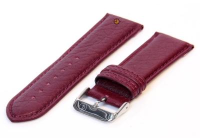Uhrenarmband 24mm bordeaux Bisonleder