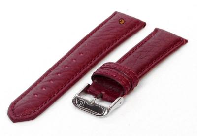 Uhrenarmband 20mm bordeaux Bisonleder