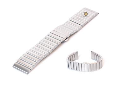 Uhrenarmband 20mm Stahl Silber matt
