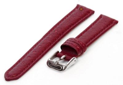 Uhrenarmband 16mm bordeaux Bisonleder