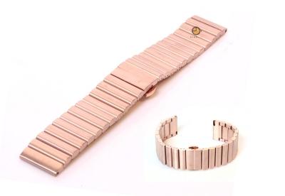 Uhrenarmband 22mm Roségold Stahl matt