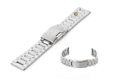 Uhrenarmband 20mm Silber Stahl poliert (teilweise)