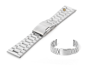 Uhrenarmband 23mm Silber Stahl poliert (teilweise)