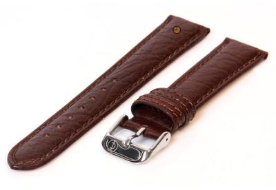 Uhrenarmband 16mm Dunkelbraun Bisonleder