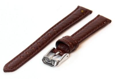 Uhrenarmband 14mm Dunkelbraun Bisonleder