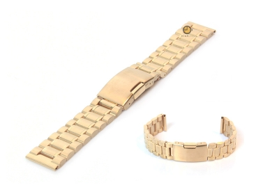 Uhrenarmband 20mm Gold Stahl poliert (teilweise)