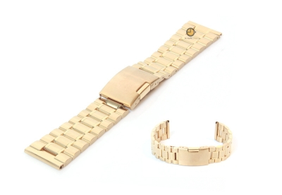 Uhrenarmband 23mm Gold Stahl poliert (teilweise)