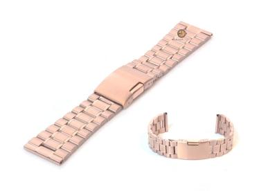 Uhrenarmband 23mm Roségold Stahl poliert (teilweise)