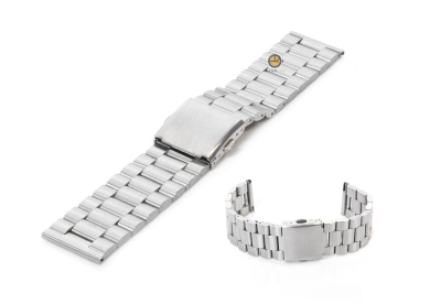 Uhrenarmband 23mm Silber Stahl matt