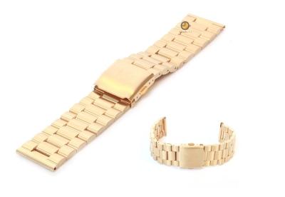 Uhrenarmband 23mm Gold Stahl matt
