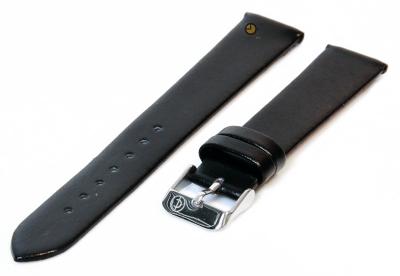 Uhrenarmband 16mm Schwarz nahtloses Leder