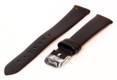 Uhrenarmband 14mm Schwarz nahtloses Leder