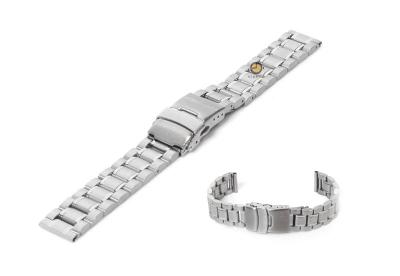 Uhrenarmband 16mm Silber Stahl poliert (teilweise)