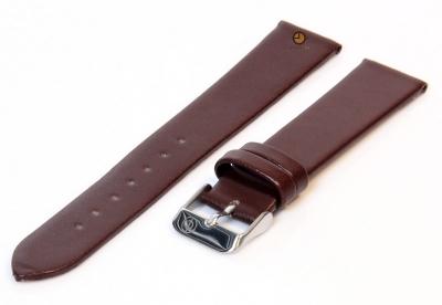 Uhrenarmband 16mm Dunkelbraun nahtloses Leder