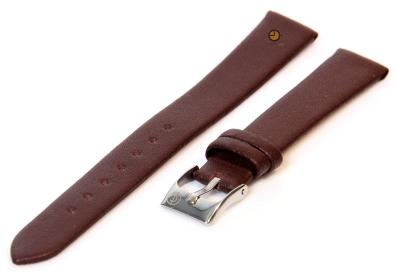 Uhrenarmband 14mm Dunkelbraun nahtloses Leder