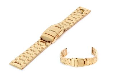 Uhrenarmband 16mm Gold Stahl poliert (teilweise)