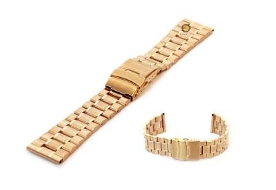 Uhrenarmband 22mm Gold Stahl poliert (teilweise)