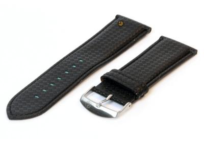 Uhrenarmband 26mm Schwarz wasserfestes Leder