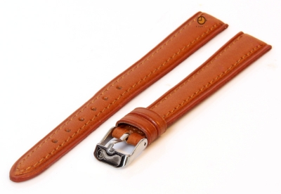 Uhrenarmband 12mm Hellbraun Leder XXL