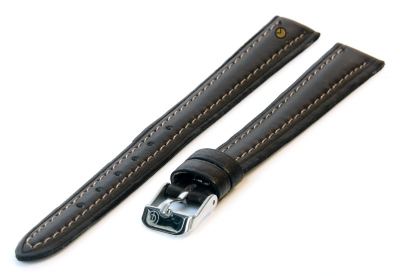 Uhrenarmband 12mm Dunkelbraun Leder XXL
