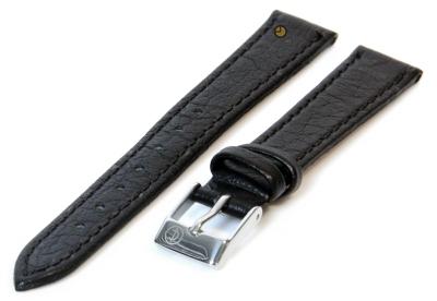 Uhrenarmband 10mm Schwarz Büffelleder