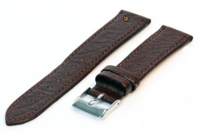 Uhrenarmband 14mm Braun Büffelleder