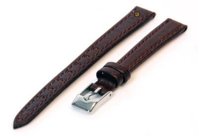 Uhrenarmband 12mm Braun Büffelleder