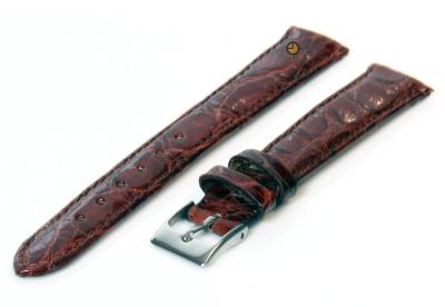 14mm Uhrenarmband echtes Krokodilleder Rostbraun