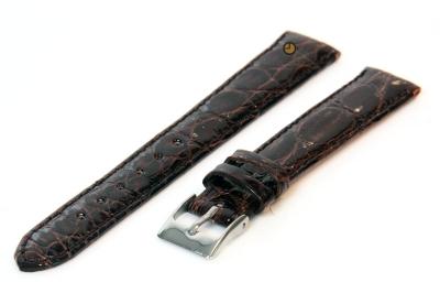 14mm Uhrenarmband Braun echtes Krokodilleder