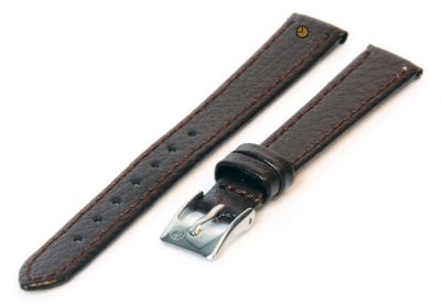 Uhrenarmband 12mm Dunkelbraun Bisonleder