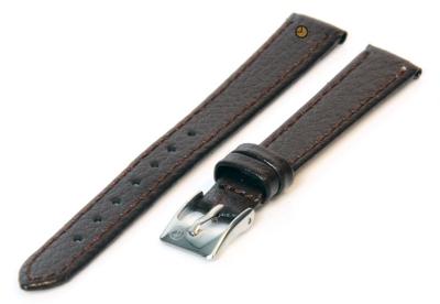 Uhrenarmband 8mm Dunkelbraun Bisonleder