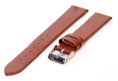 Uhrenarmband 16mm Braun nahtloses Leder
