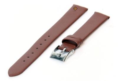 Uhrenarmband 14mm Braun nahtloses Leder
