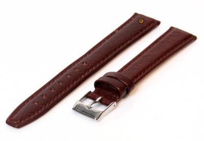Uhrenarmband 14mm Braun Büffelleder extra lang