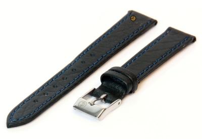 Uhrenarmband 14mm Dunkelblau Büffelleder