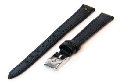 Uhrenarmband 10mm Dunkelblau Büffelleder