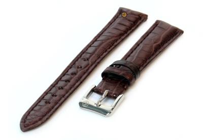 Uhrenarmband 14mm Dunkelbraun Krokodilleder matt