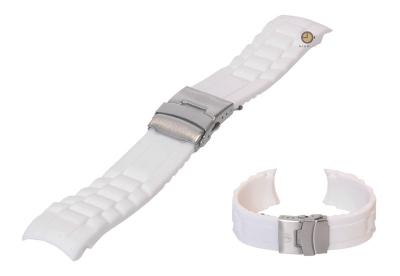 Silikon Rolex-stil Uhrenarmband 24mm Weiß