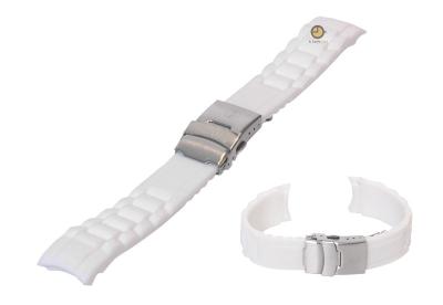 Silikon Rolex-stil Uhrenarmband 16mm Weiß