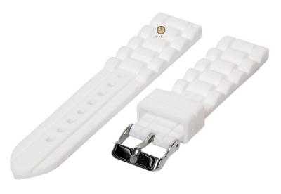 Silikon Uhrenarmband 18mm Weiß