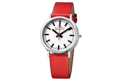 Mondaine 20mm Uhrenarmband Rot matt