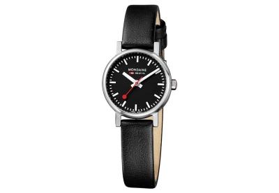 Mondaine 12mm Uhrenarmband Schwarz matt