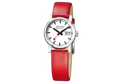 Mondaine 16mm Uhrenarmband Rot glänzend