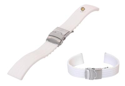 18mm Silikon Uhrenarmband Weiß