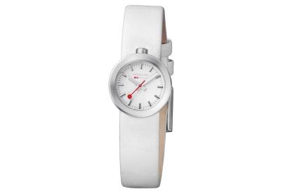 Mondaine 14mm Uhrenarmband Weiß matt